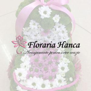 Aranjamente florale pentru botez, pachete personalizate, realizate de Floraria Hanca, situata in judetul Cluj, comuna Floresti.