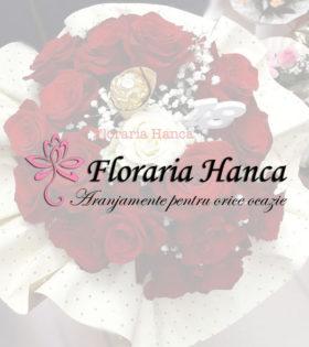 Buchete de flori si aranjamente florale realizate de Floraria Hanca, situata in judetul Cluj, comuna Floresti