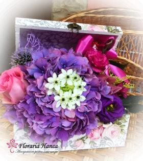 Cufar cu flori Irina cu livrare GRATUITA in Cluj, oferit de Floraria Hanca.Buchete de flori personalizate, livrate la domiciliu.